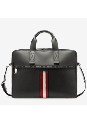 Bally Hektor Black, Leather Business Bag In Black