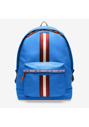 Bally Harper Blue, Men's Leather Backpack In China Blue