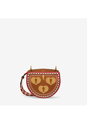 Bally Cecyle Small Brown, Women's Calf Leather Cross Body Bag In Tan