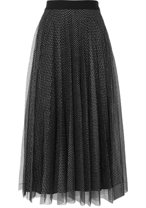 Christopher Kane - Pleated Metallic Tulle Skirt - Black