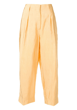 Forte Forte cropped trousers - Yellow