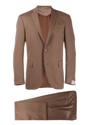 Corneliani slim two-piece suit - Brown