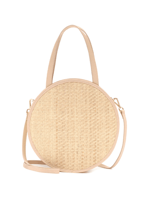 Carrie straw and leather tote