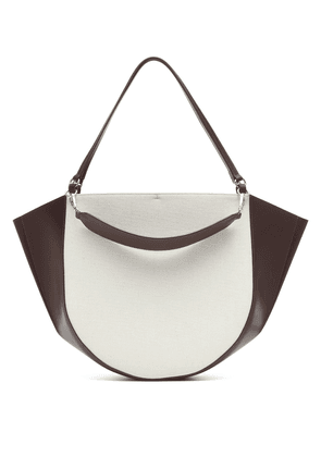 Mia canvas and leather tote