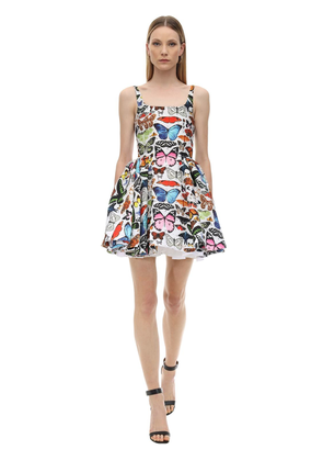 Floral Print Jacquard Mini Dress