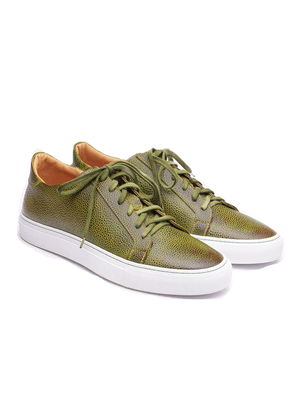 Highland Green Calfskin Leather Sneakers