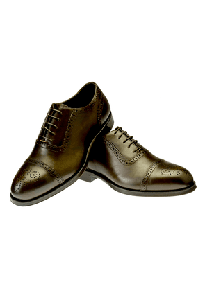 Brown Gerardo Leather Oxford Brogues