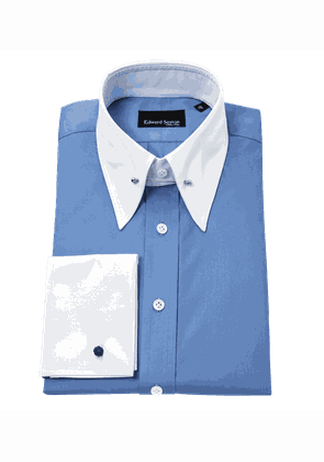 French Blue Pin Collar Shirt