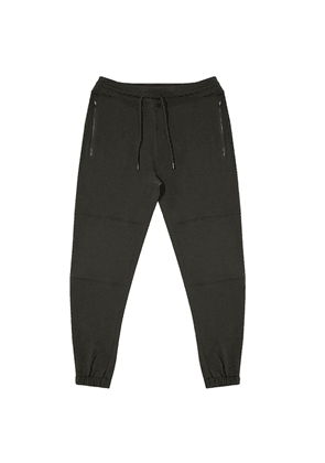 Olive Sweatpant with Double Layered Knee Piecing