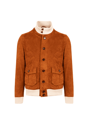 Tobacco Suede A1 Bomber Jacket