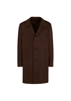 Brown Cashmere Single-Breasted Overcoat