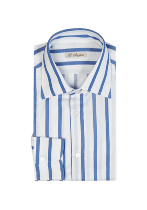White and Blue Cotton Archive Stripe Shirt
