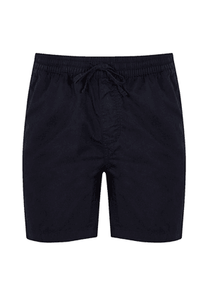 Navy Cotton Aiden Shorts