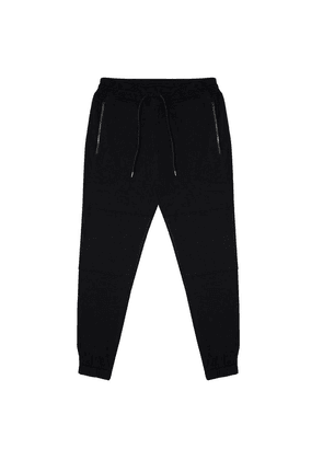 Black Sweatpant with Double Layered Knee Piecing