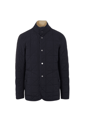 Navy and Beige Reversible Quilted Coat