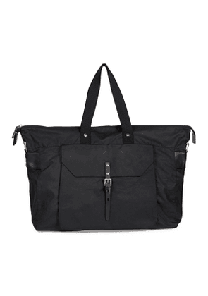 Black Waxed Cotton and Cowhide Freddie Holdall