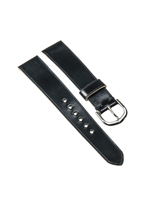 Black Horween Shell Cordovan Leather Classic Watch Strap