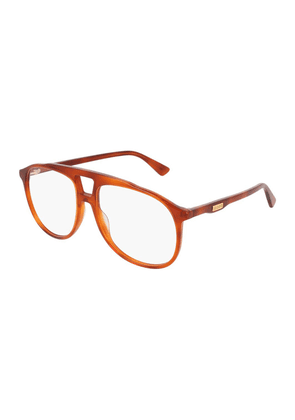 Brown Acetate GG0264O-002 Round Frame Optical Glasses