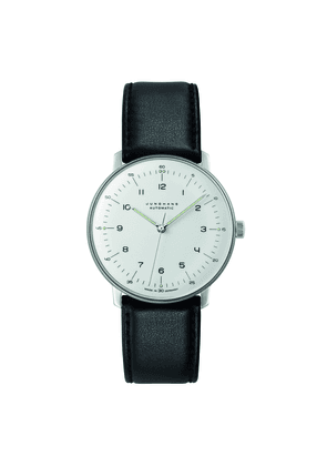 Black Leather Max Bill Automatic Watch