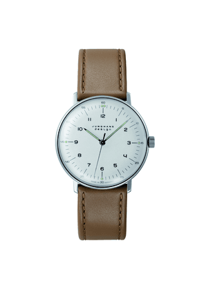 Tan Leather Max Bill Hand-Winding Watch