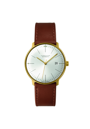 Tan Leather PVD Max Bill Automatic Watch