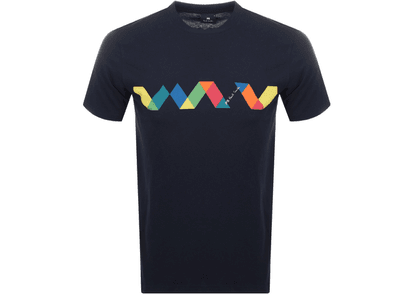 PS By Paul Smith Multi Spiral T Shirt Navy