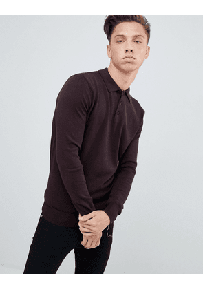 Brave Soul Knitted Long Sleeve Polo