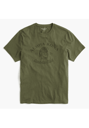 Tall Aloha Kona Athletic Club graphic T-shirt