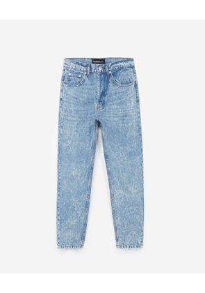 The Kooples - faded blue jeans with high waist - blu