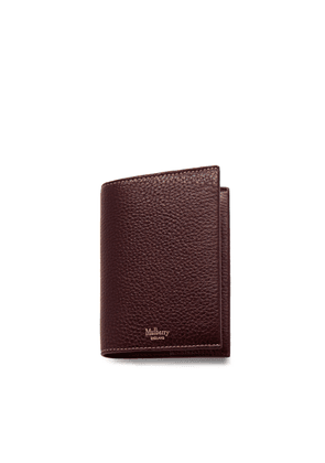 Mulberry Passport Cover in Oxblood Natural Grain Leather