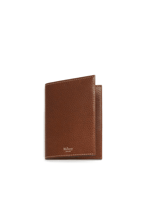 Mulberry Passport Cover in Oak Natural Grain Leather