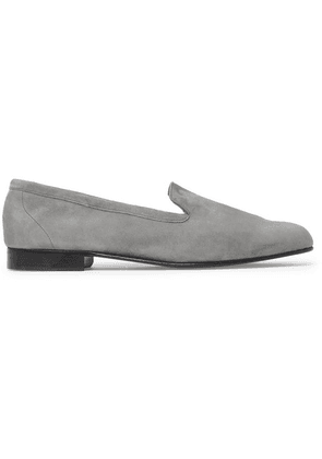 George Cleverley - Hedsor Suede Loafers - Gray