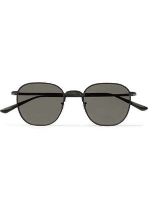 The Row - + Oliver Peoples Board Meeting 2 Square-frame Titanium Mirrored Sunglasses - Black