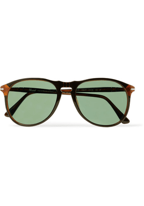 Persol - D-frame Acetate Polarised Sunglasses - Dark brown