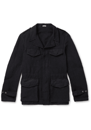 Massimo Alba - Linen And Cotton-blend Field Jacket - Indigo