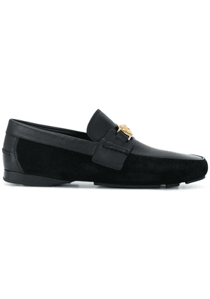 Versace embellished Medusa loafers - Black