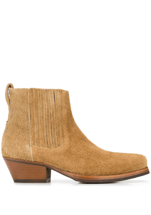 Our Legacy cuban heel ankle boots - Neutrals