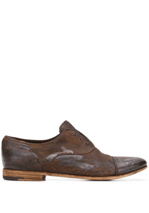Premiata laceless oxford shoes - Brown