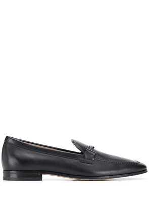 Tod's double t buckled loafers - Black