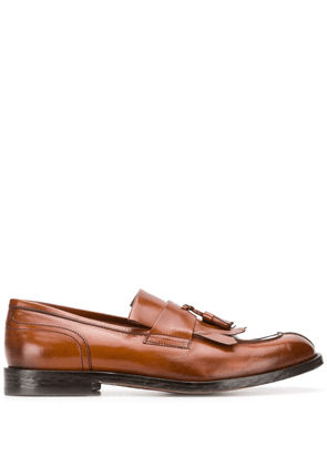 Doucal's tassel detail loafers - Brown