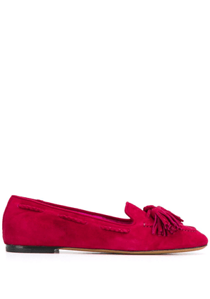 Etro tassel embellished loafers - Red