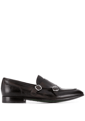 Green George classic monk shoes - Brown