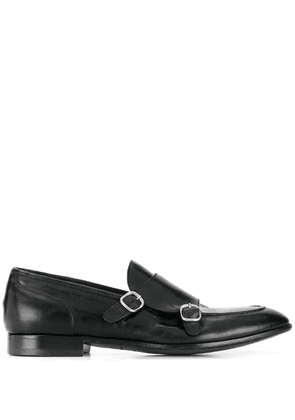 Green George double monk strap shoes - Black