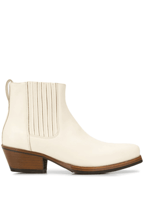 Our Legacy cuban heel ankle boots - White