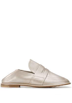 Agl flat metallic loafers - Gold