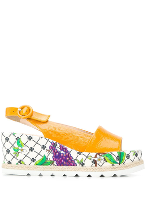 Hogl floral print sole sandals - Yellow