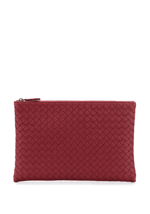 Bottega Veneta Intrecciato zipped pouch - Red