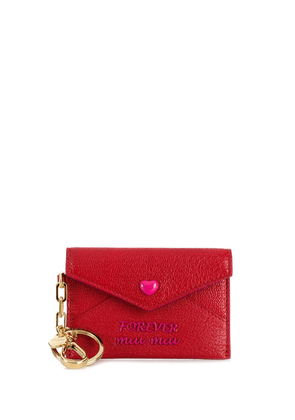 Miu Miu envelope key chain - Red