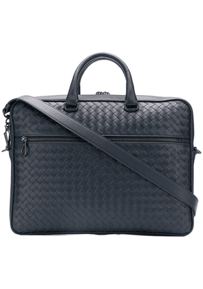 Bottega Veneta woven laptop bag - Blue