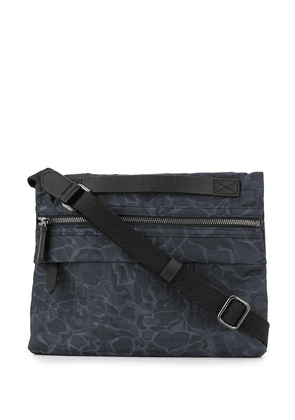 Mismo camouflage print crossbody bag - Blue